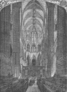 WESTMINSTER ABBEY. Westminster Abbey. Interior of the choir. London c1880